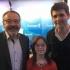 Mélanie comemora a realização do seu sonho no estúdio do canal Europe