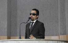 Vereador Lucas Aribé utilizando a tribuna da Câmara Municipal de Aracaju